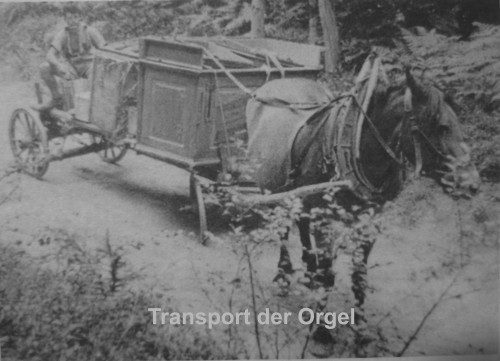 Transport der Orgel